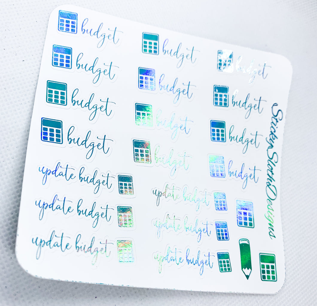 Budget Foiled Planner Stickers