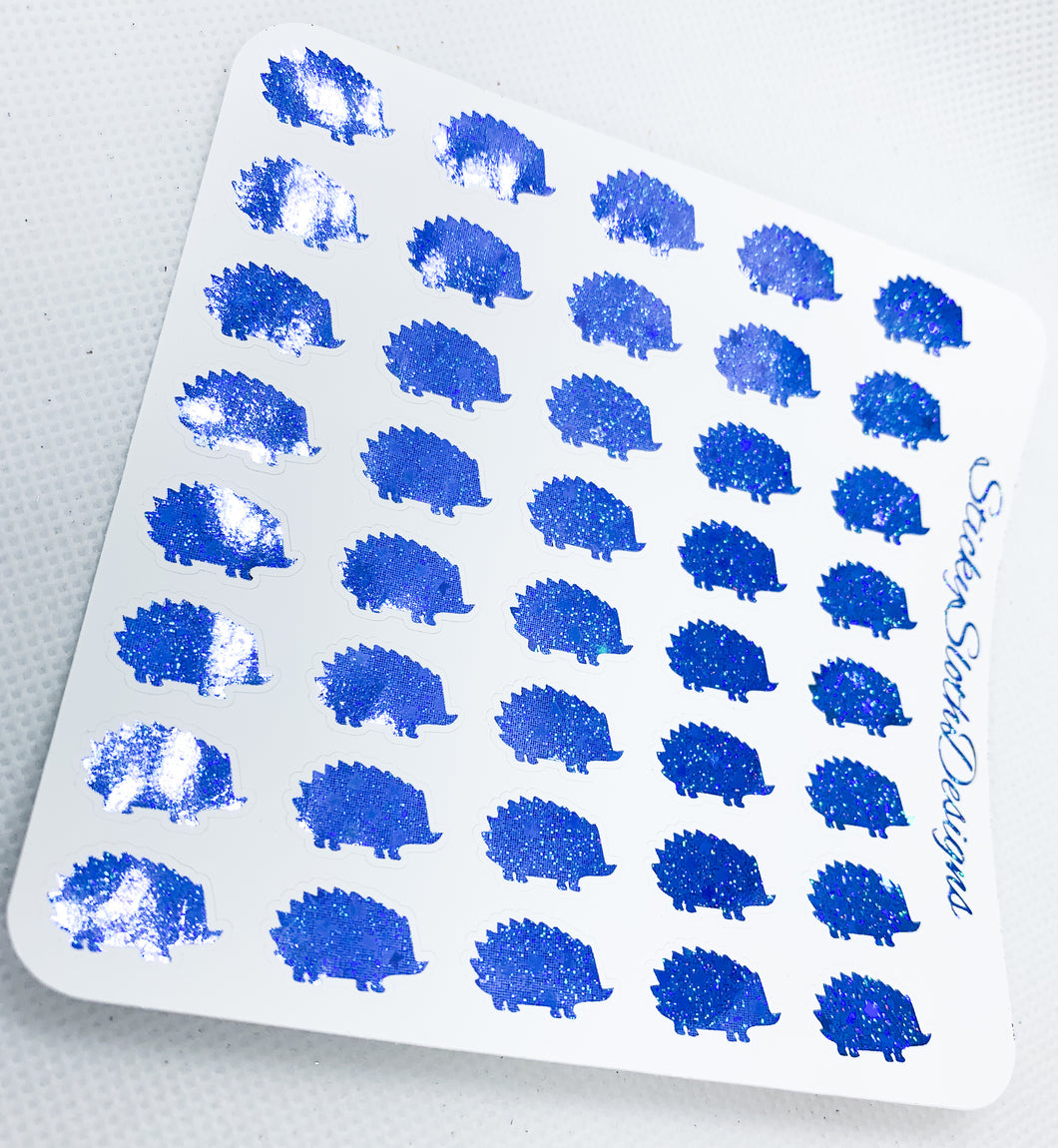 Hedgehog Foiled Planner Stickers