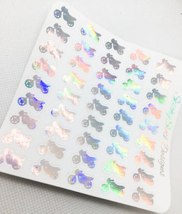 Motorcycle Foiled Planner Stickers