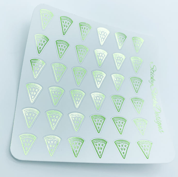 Watermelon Foiled Planner Stickers