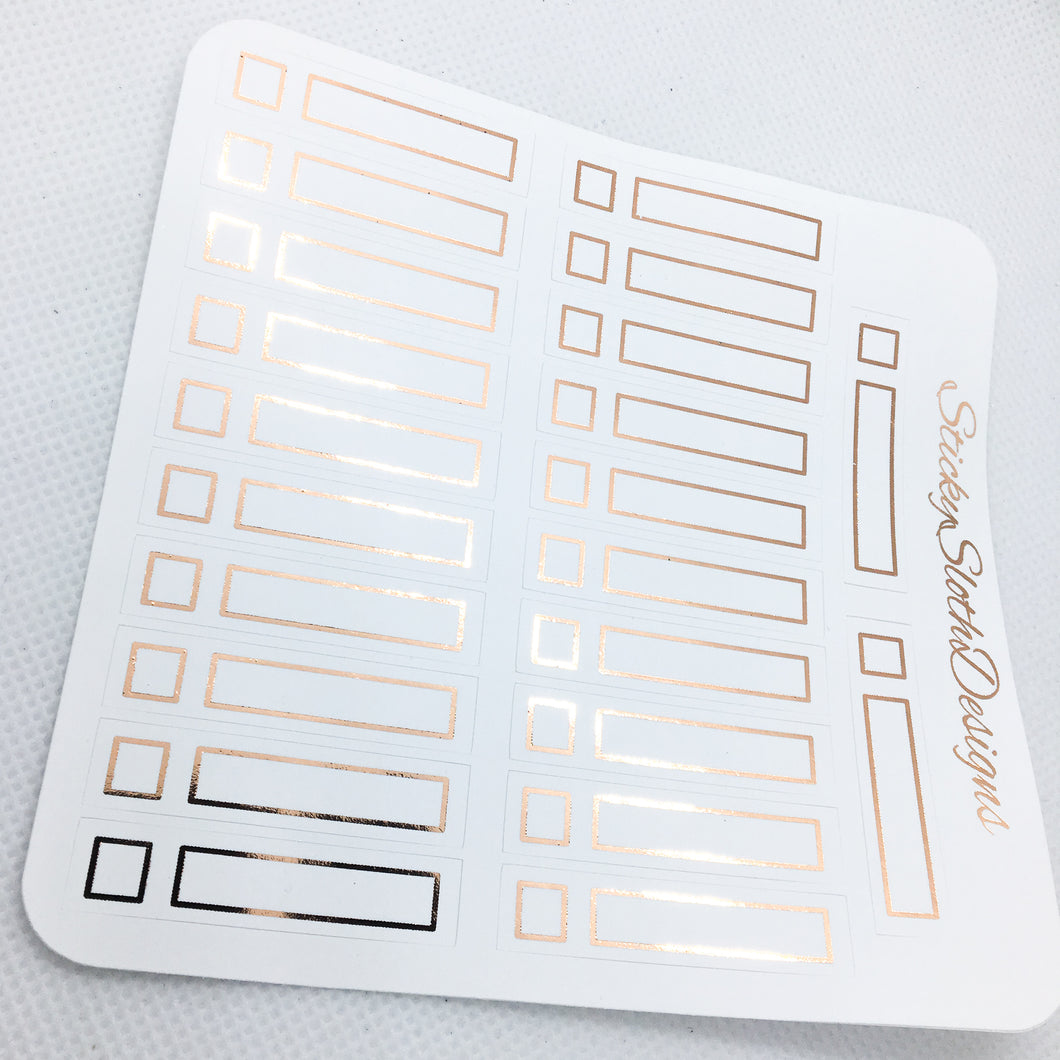 Skinny Label Foiled Planner Stickers