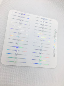 Bow Divider Foiled Planner Stickers