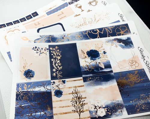 Navy & Blush Foiled Weekly Kit