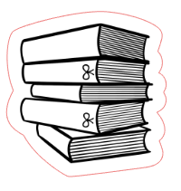 Book Stack Foiled Planner Stickers
