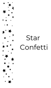 Star Confetti Header Overlay Tapes