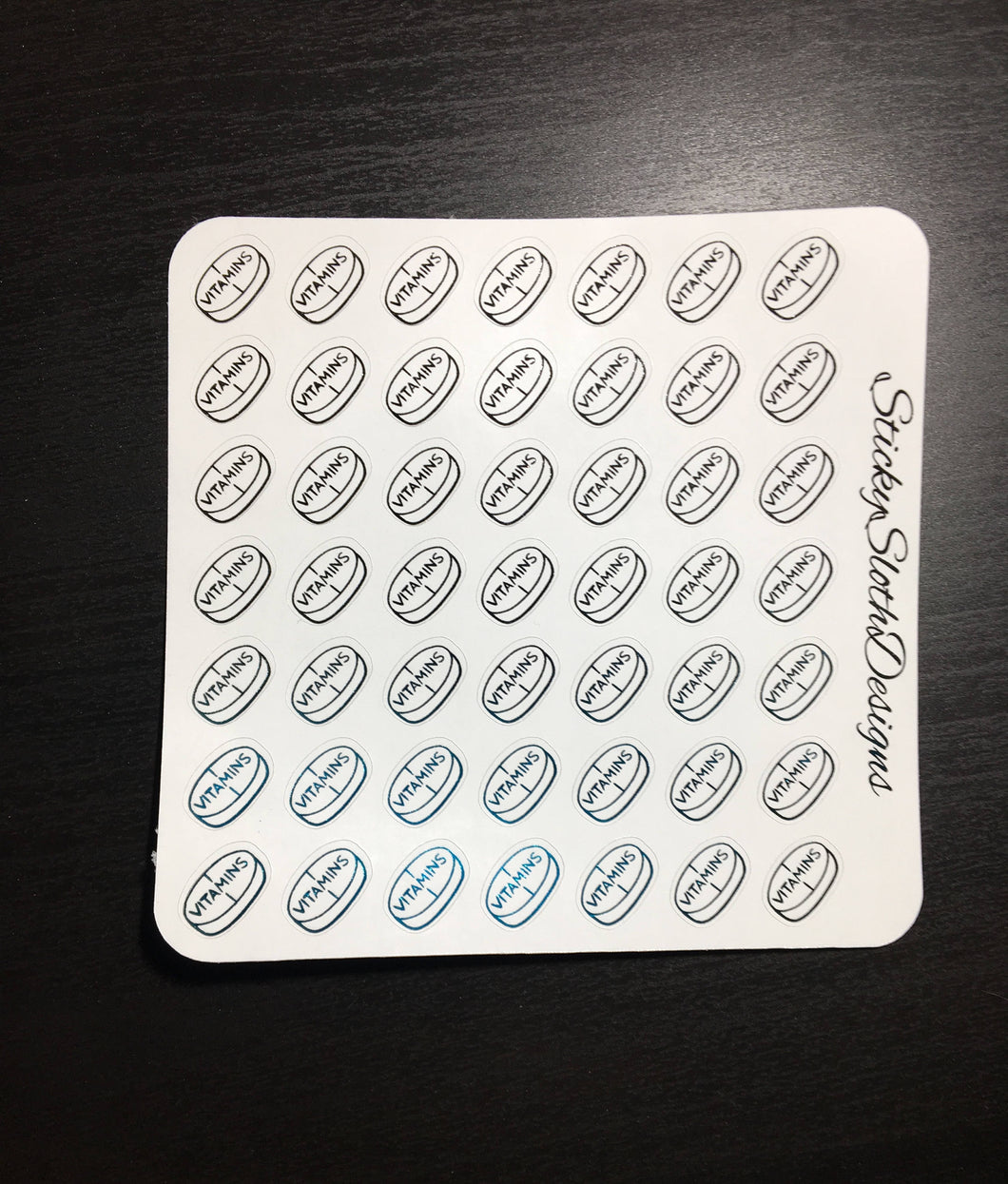 Foiled Vitamin Planner Stickers