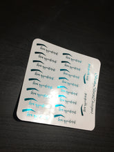 Foiled Brow Appointment Planner Stickers