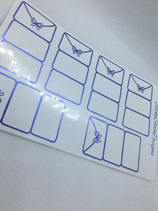 Foldover Envelope Foiled Planner Stickers