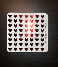 Foiled Heart Planner Stickers