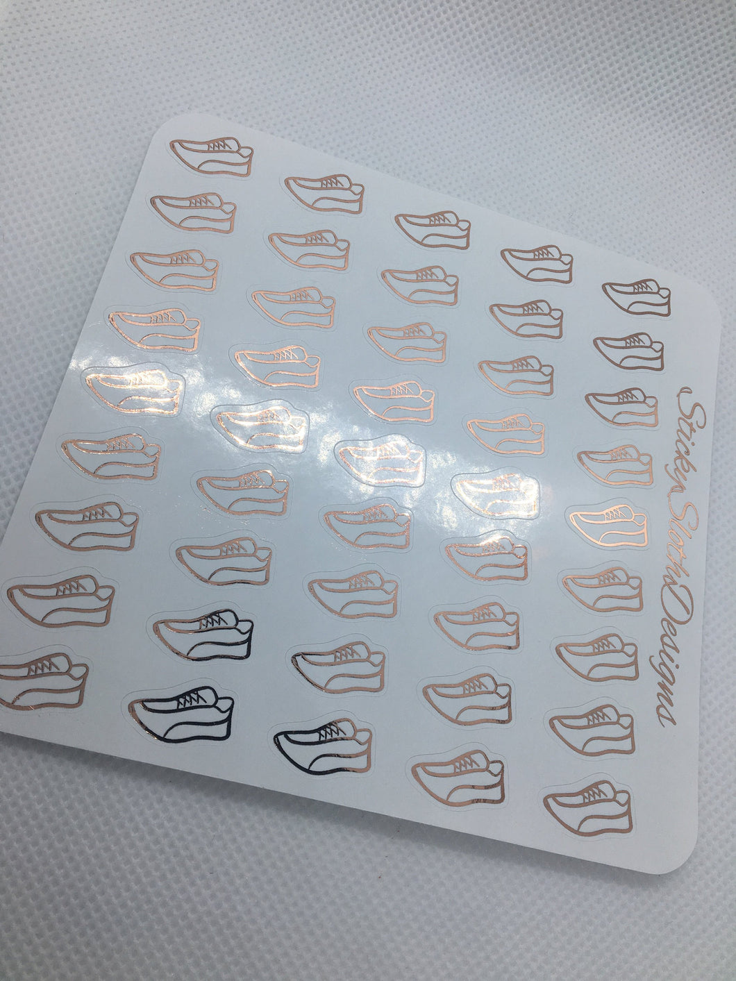 Foiled Running Shoe Planner Stickers