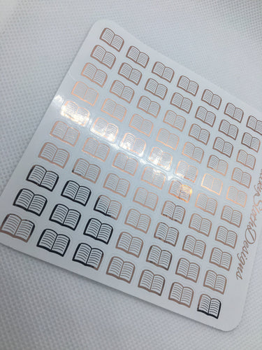 Foiled Book Planner Stickers