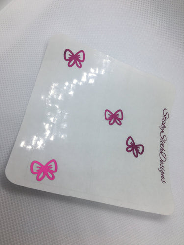 Bow Corner Foiled Overlay Stickers