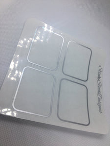 Rounded Corner Foiled Overlay Stickers