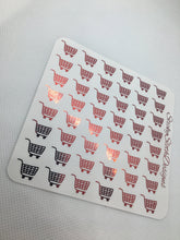 Foiled Shopping Cart Planner Stickers