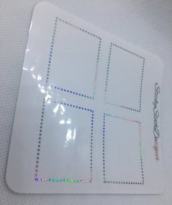 Dotted Frame Foiled Overlay Stickers