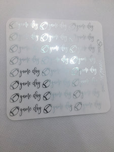 Football Game Day Foiled Planner Stickers