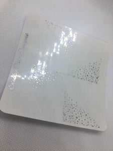 Sprinkled Corner Foiled Overlay Stickers