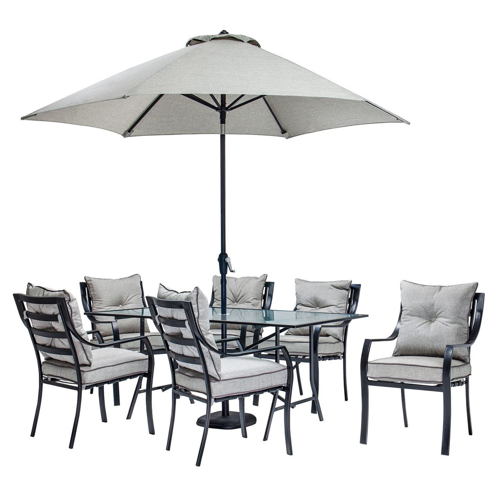 Outdoor dining set with table umbrella and stand click to expand