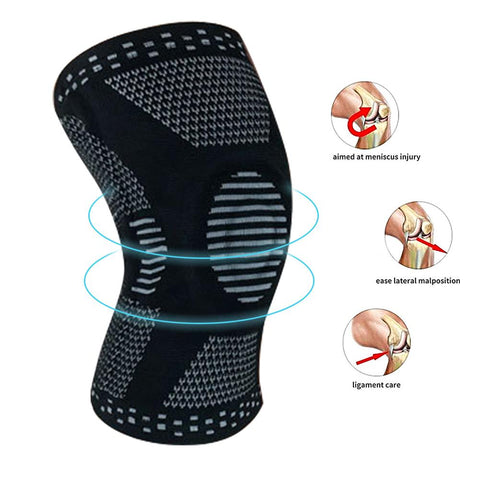 Meniscus Knee Support with Side Spring Stabilizers