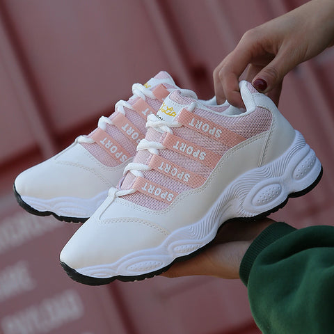 Flat Net White Sneakers Shoes