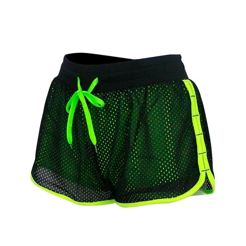 Neon Yoga Running Shorts For Women