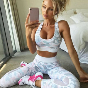 Bikswim Sports Bra Leggings 2pc Sets Running Active Wear Gym Yoga Clothing Athletic Outfits