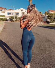 Load image into Gallery viewer, Yoga Set Tracksuit Sexy Ensemble Sportswear Jumpsuits Workout Gym Wear