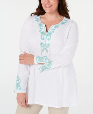 #SC291 WOMEN'S PLUS SIZE APPAREL PRIMARILY SPRING/SUMMER - $1,543.37 MSRP, 25 UNITS, SHELF PULLS