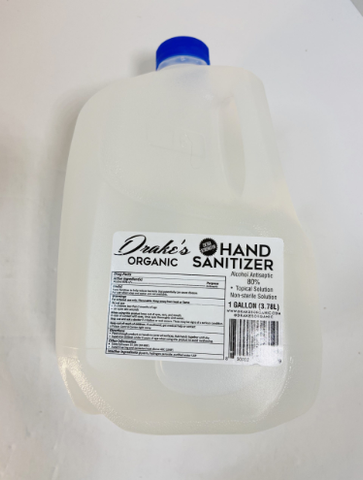 ORGANIC HAND SANITIZER BY THE GALLON