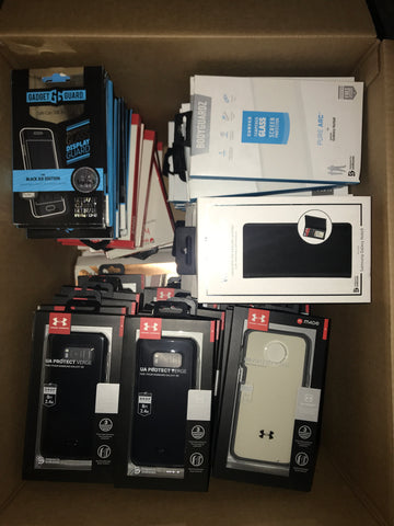 #CA1007 CELL PHONE ACCESSORIES - $1231.38 MSRP, 100 UNITS, NEW SHELF PULL/BOX DAMAGE