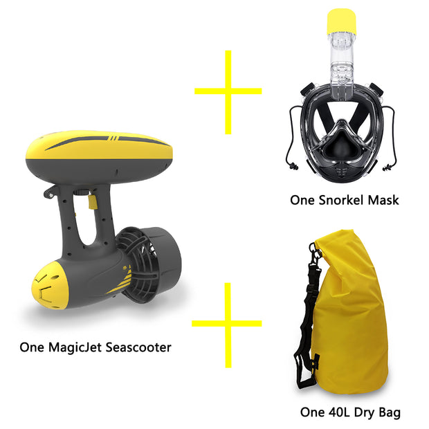 MagicJet Seascooter, the Best Underwater Scooter with 3 Camera Mounts