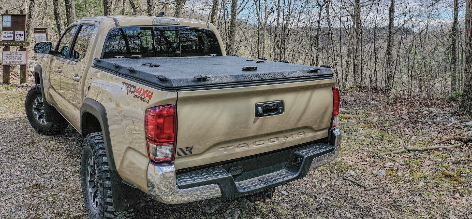 Ram pickup with DiamondBack HD diamond plate bed cover