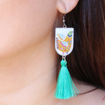 None Allergen Steel Tassel Bohemian Earrings