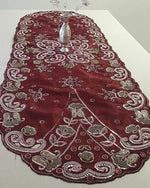 Red/ Maroon  Luxury Bohemian Table Runner