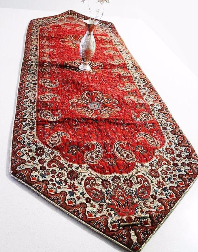 Red Bohemian  table Runner - Treasures of Silk Road