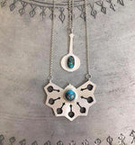 Exotic Sterling Silver Necklace with Turquoise stone