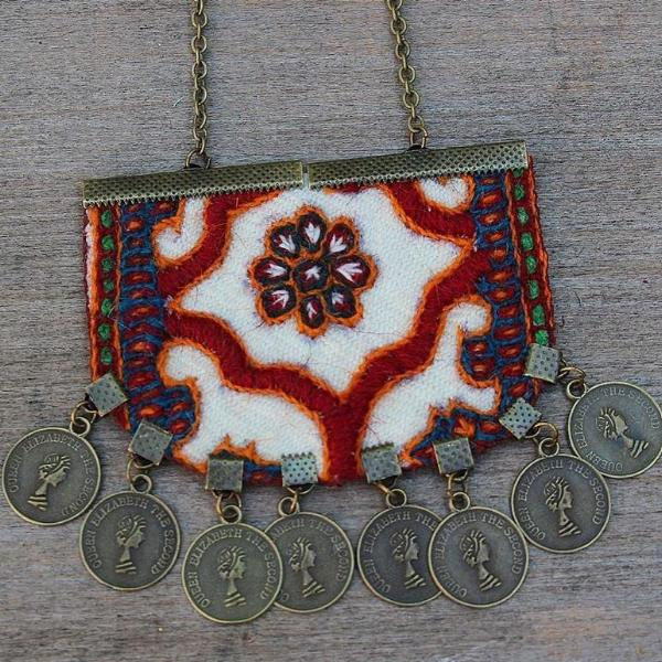Handmade Boho White  Necklace - Treasures of Silk Road
