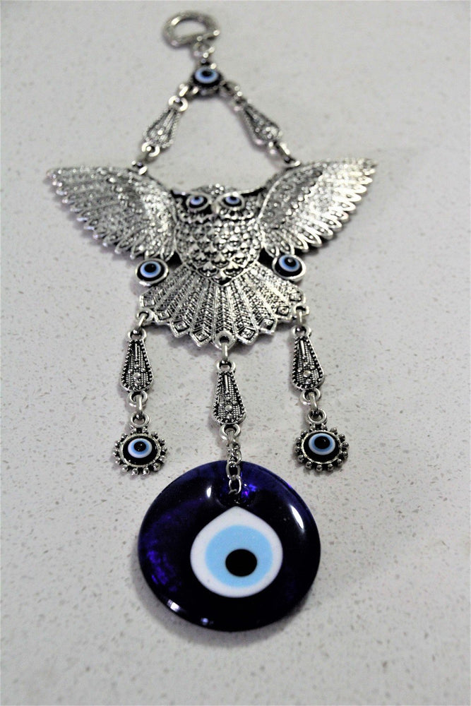 Large Owel Evil Eye Wall Decor - Treasures of Silk Road