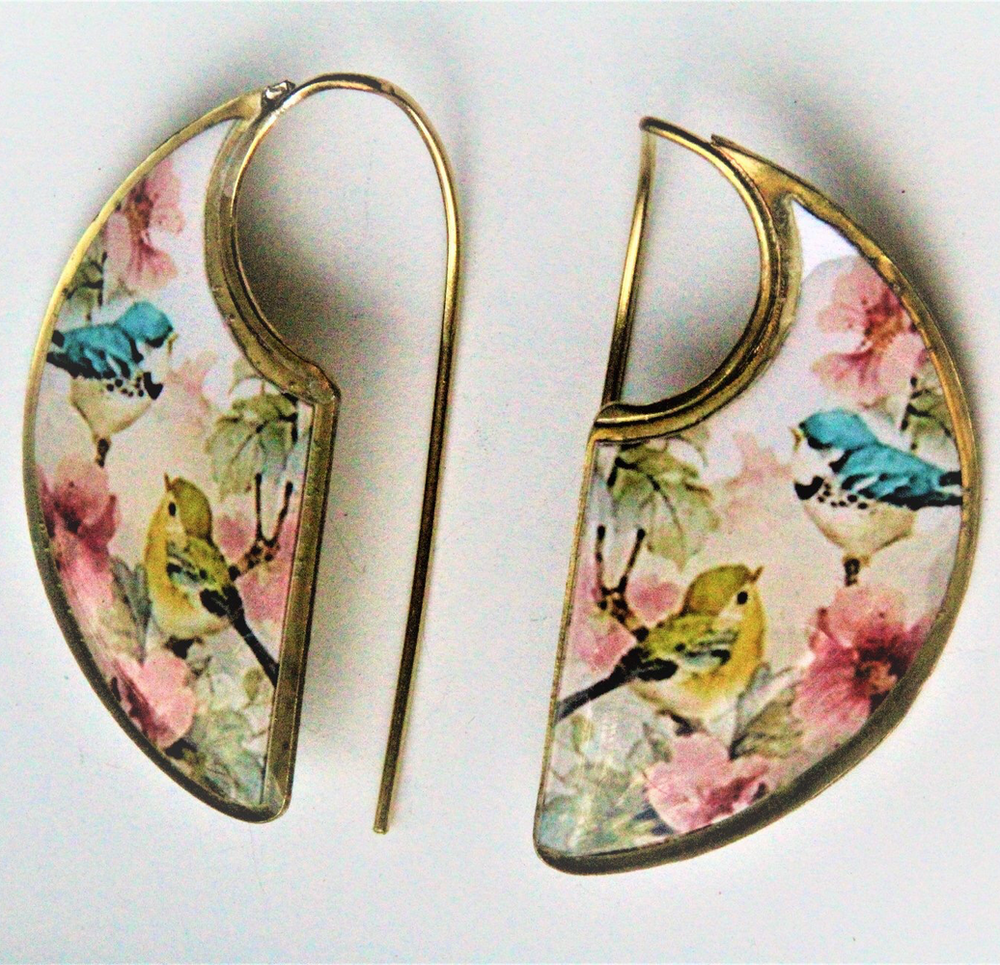 Love Birds Inspired Brass Earrings ($15 reduced to $8) - Treasures of Silk Road