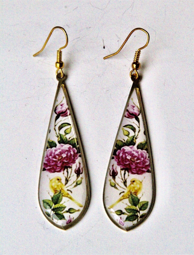 Love Bird Bohemian inspired Brass Earrings ($15 reduced to $8)