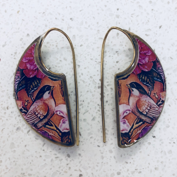 Song Birds Bohemian Inspired Brass Earrings ($15 reduced to $8)