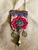 Hand Sewn Bohemian Necklace - Treasures of Silk Road