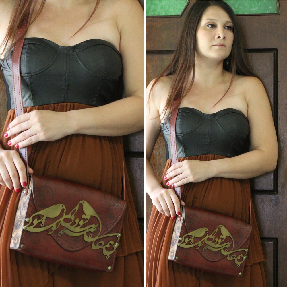 Rumi Poem Genuin Leather bag - Treasures of Silk Road