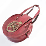 Large Genine Leather Pomegranate, Rumi poem handbag - Treasures of Silk Road