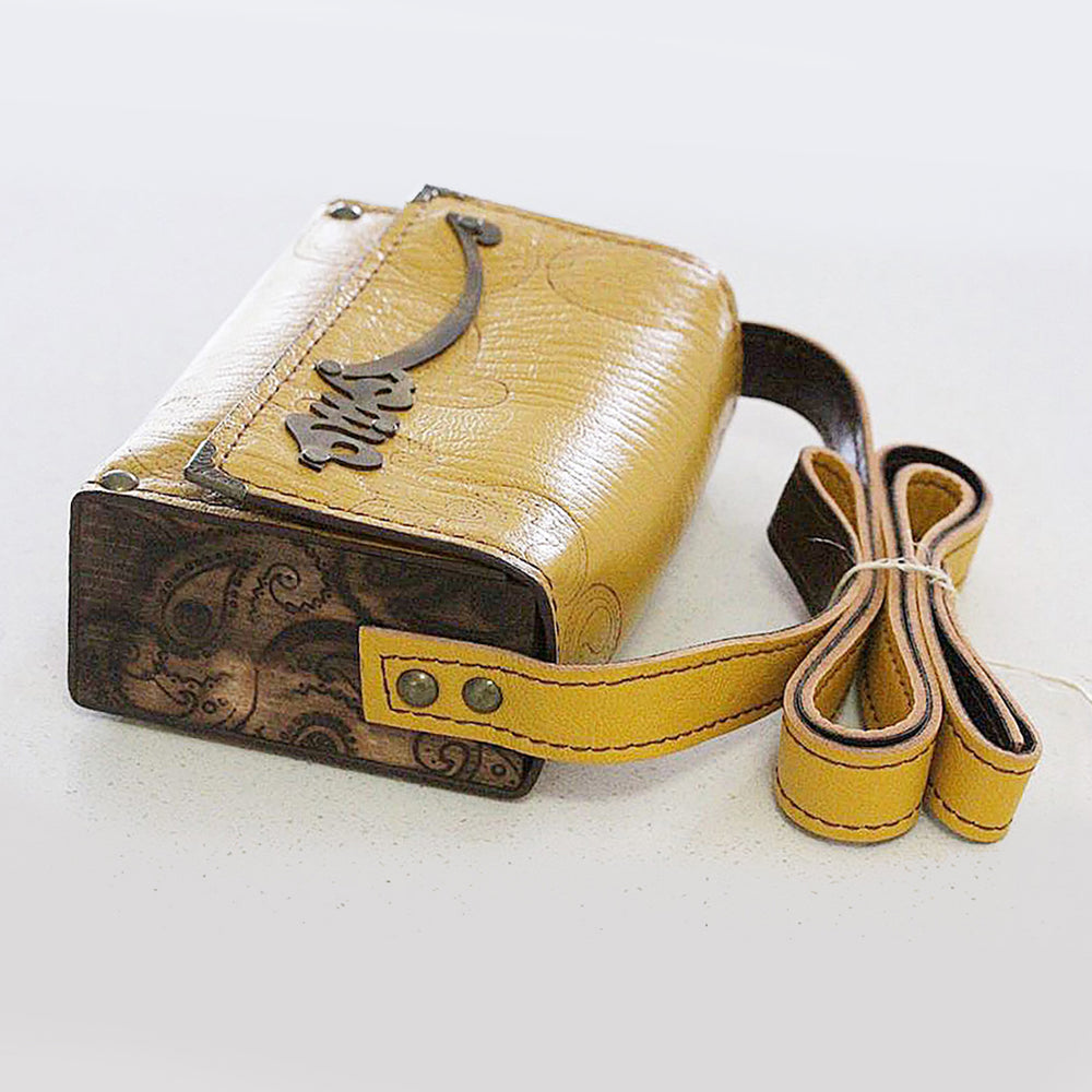 "Small Genuine Leather "" Rumi""  Love bag - Treasures of Silk Road"