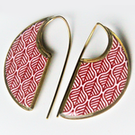 Ancient Tiles Inspired Earrings ($15 reduced to $8) - Treasures of Silk Road
