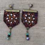 Handmade beaded Boho Earrings - Treasures of Silk Road