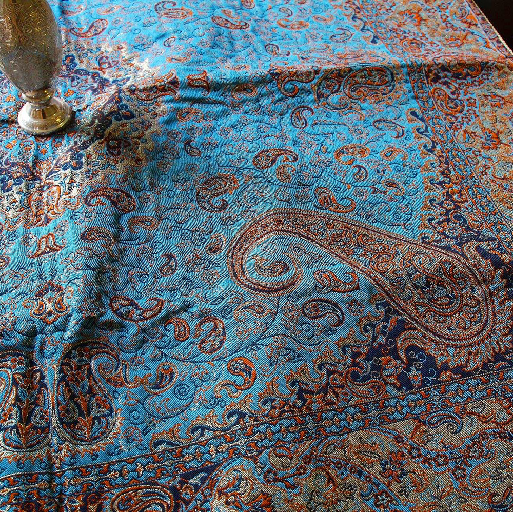 Blue Hand Made Bohemian Table Cloth