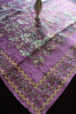 Purple Bohemian Table Cloth (one meter by one meter) - Treasures of Silk Road