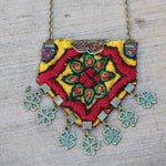 Set of Boho Hand made Necklace and Bracelet/ Cuff - Treasures of Silk Road